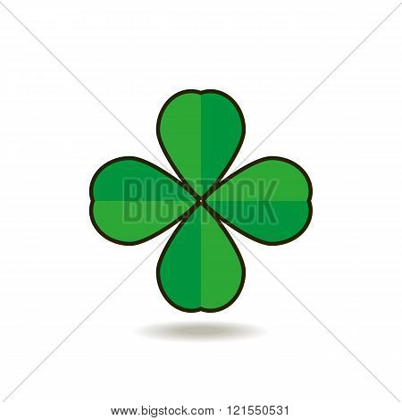Quatrefoil Clover For Good Luck Icon