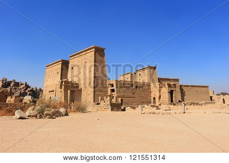 Temple Of Philae Dedicated To The Goddess Isis