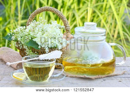 Elderflower tea elder