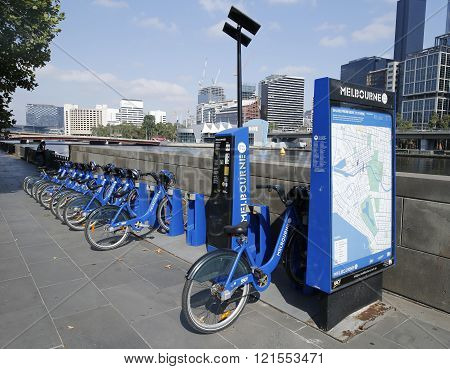 Melbourne Bike Share station