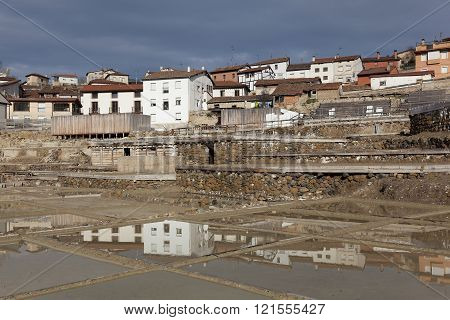 View Of Salinas De Añana, Alava, Basque Country, Spain