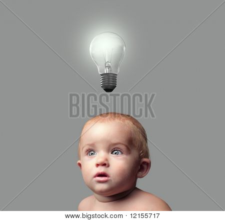 sweet toddler having an idea