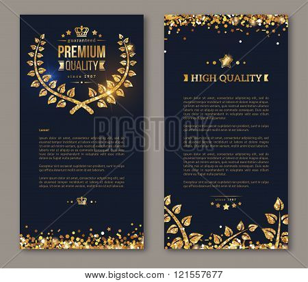 Flyer design layout template laurel wreath