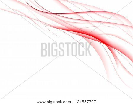Abstract background with fine red lines, vector illustration