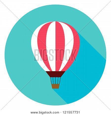 Air Balloon Circle Icon