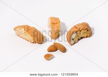 Almond Cantuccini On White Background