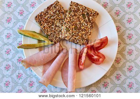 Healthy Breakfast With Crispbread