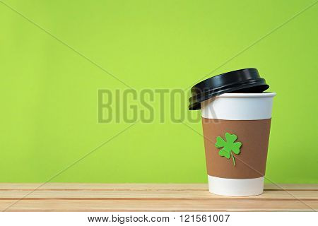 Take Away Cup With Shamrock