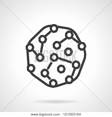 Pathogens black line design vector icon