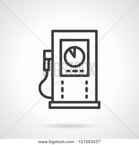 Gas refueling black line design vector icon