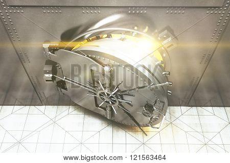 Open Bank Vault Top
