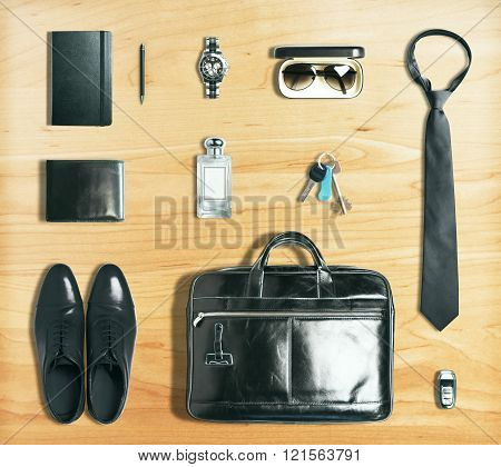 Business Items On Wood