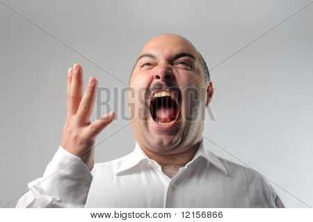 man in extreme rage