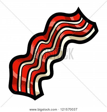 Bacon strip vector icon
