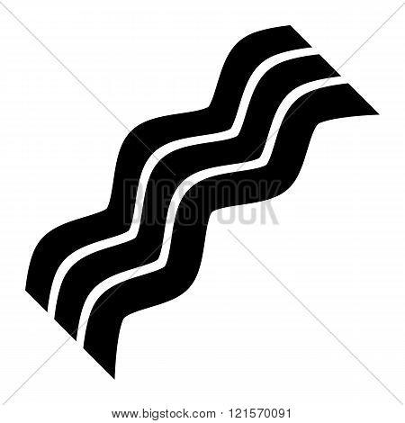 Bacon strip vector icon