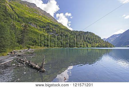 Remote Lake In The Alaskan Wilds