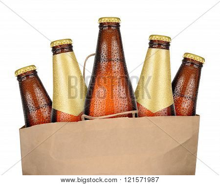 Bag with brown beer