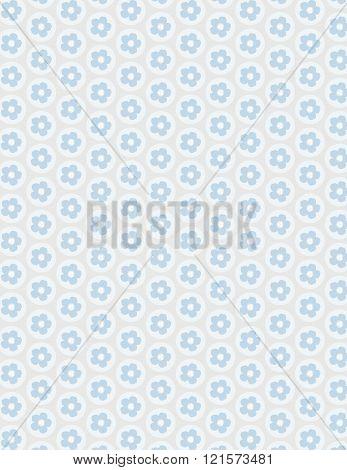 Blue flower pattern over gray color background