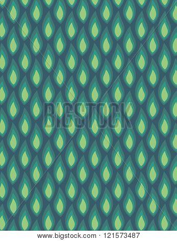 Green leaf pattern over green color background