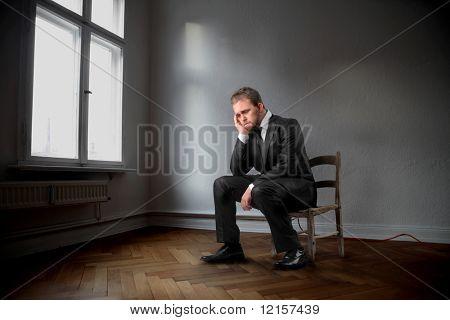 sadness business man