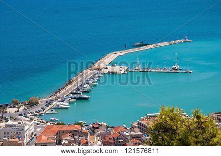 Aerial View Of Zakynthos Port