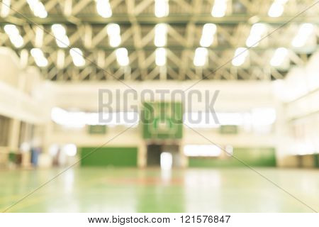 blur image of basketball court