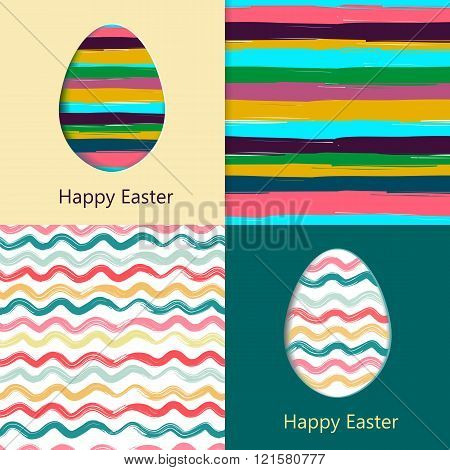 Easter cards, easter eggs