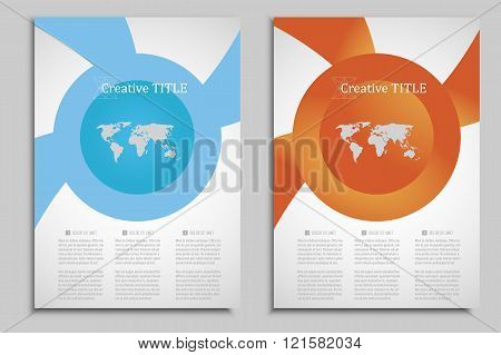 Circle geometric design Vector brochures template for presentations, covers, books and business docu