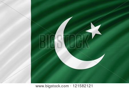 Flag of Pakistan. Pakistan flag texture background