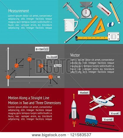 Fundamental Physics And Engineering Subject Chapter About Measurement, Vector, 2D And 3D Motion Theo