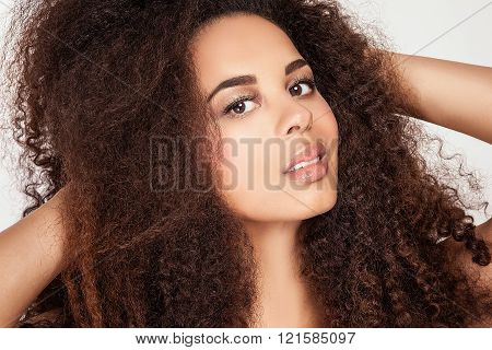 Beauty portrait of african american girl.