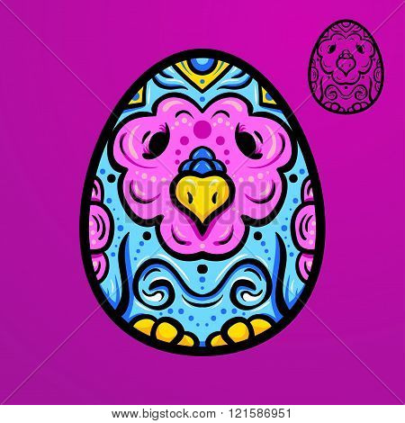 Easter Ethnic Egg-bird