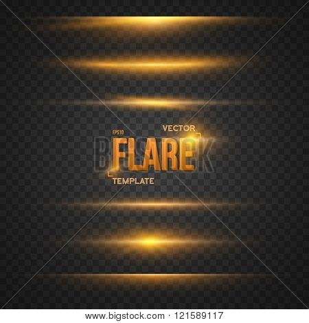 Vector Flare Effect. Transparent Vector Overlay Lens Flare Ray E