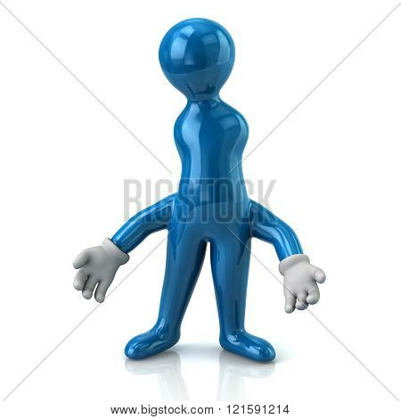 Illustration Of Thinking Blue Man With Wrong Idea