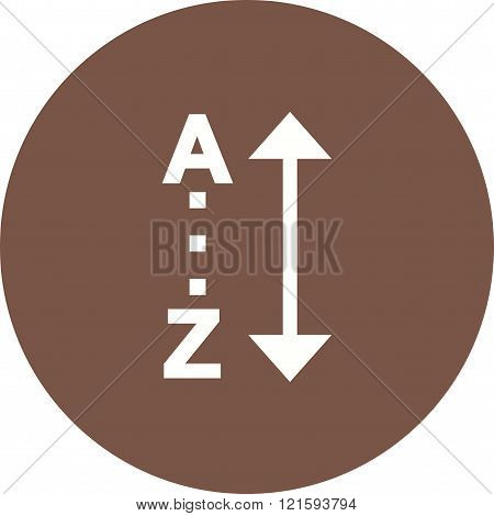 Sort, alphabetically, list icon vector image. Can also be used for text editing. Suitable for mobile apps, web apps and print media.