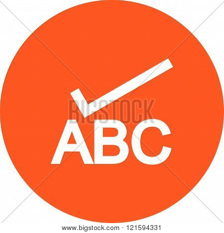 Check, spell, spelling icon vector image.Can also be used for text editing. Suitable for mobile apps, web apps and print media.