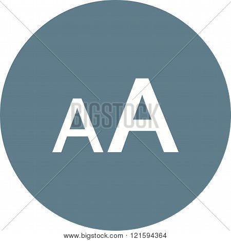 Size, font, text icon vector image.Can also be used for text editing. Suitable for mobile apps, web apps and print media.