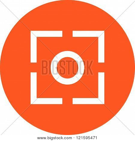 Camera, focus, screen icon vector image. Can also be used for picture editing. Suitable for use on web apps, mobile apps and print media.