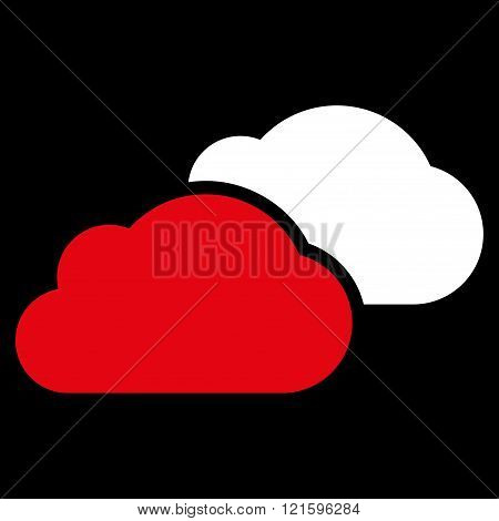 Clouds Flat Vector Symbol