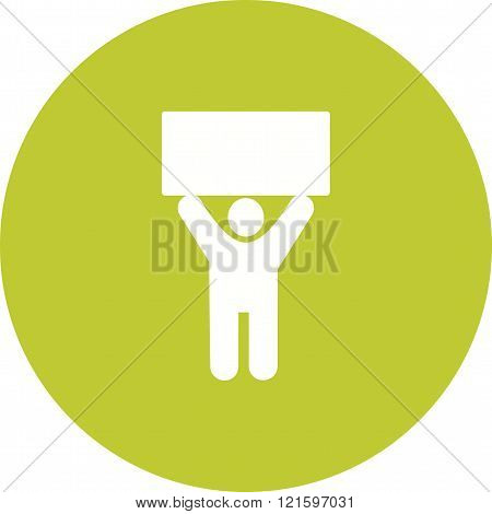 Holder, sign, pen icon vector image. Can also be used for humans. Suitable for use on web apps, mobile apps and print media.