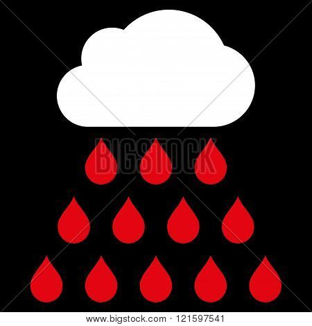 Rain Cloud Flat Vector Symbol