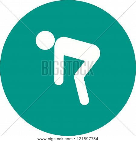Stretching, fitness, runner icon vector image. Can also be used for humans. Suitable for web apps, mobile apps and print media.