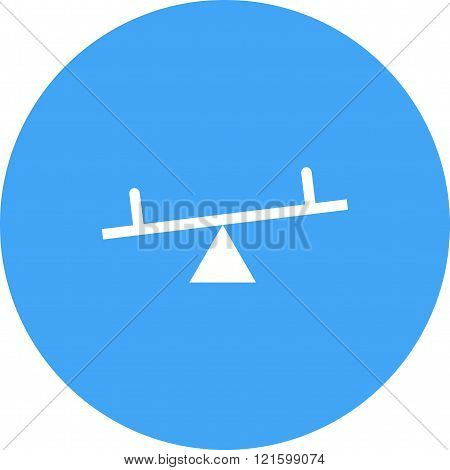 Seesaw, kids, playground icon vector image. Can also be used for outdoor fun. Suitable for use on web apps, mobile apps and print media.