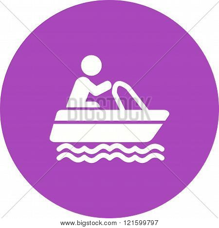 Boat, sailing, sail icon vector image. Can also be used for outdoor fun. Suitable for use on web apps, mobile apps and print media.