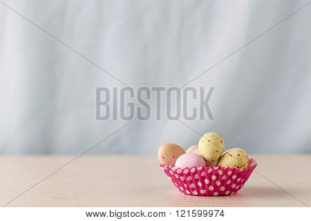 Chocolate Easter Eggs With Copy Space