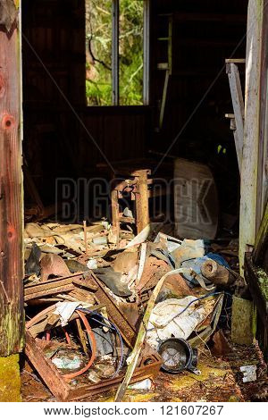 Debris In Shed