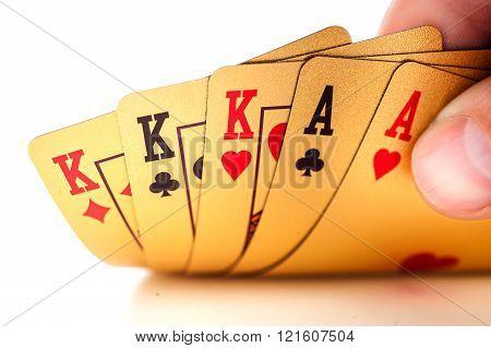 Fullhouse set. Poker.