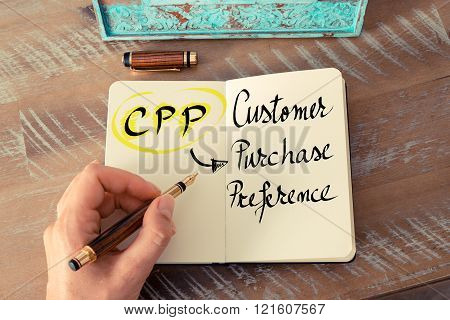 Acronym CPP as Customer Purchase Preference