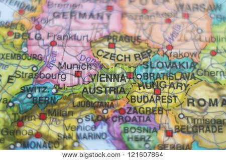 Austria Country Map .