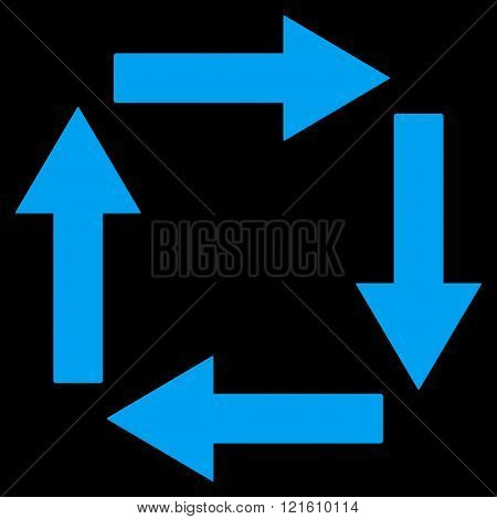 Circulation Arrows Flat Vector Symbol